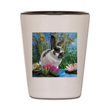 Buttercup Bunny on Lily Pads-1-full Shot Glass