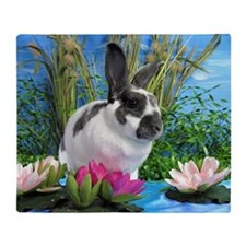 Buttercup Bunny on Lily Pads-1-full Throw Blanket