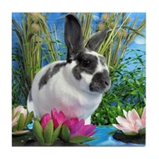 Buttercup Bunny on Lily Pads-1-full Tile Coaster