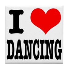 I Heart (Love) Dancing Tile Coaster