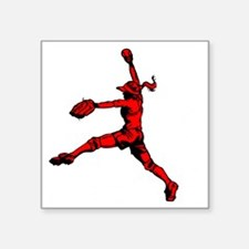 "red2 Corner Square Sticker 3"" x 3"""