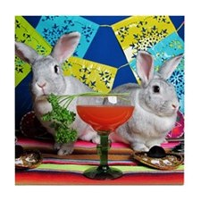 Tiggy and Beatrix Celebrate Cinco de  Tile Coaster