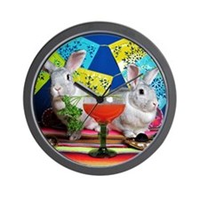 Tiggy and Beatrix Celebrate Cinco de Ma Wall Clock