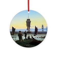 Caspar David Friedrich Stages of Li Round Ornament