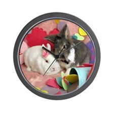 Skyler and Olivia-Valentines-Full Wall Clock