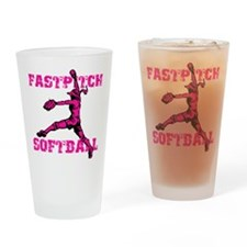 pink Distressed Drinking Glass