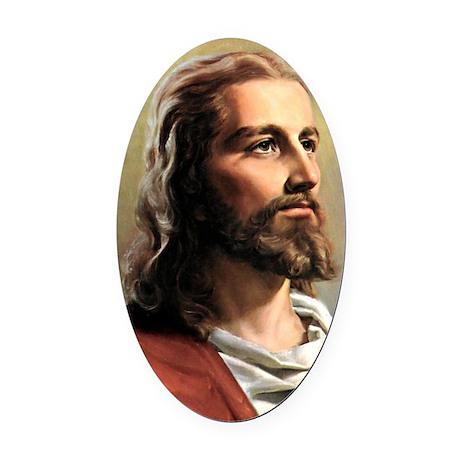 Jesus Oval Car Magnet