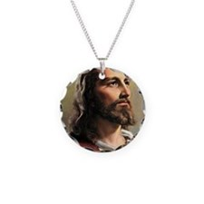 Jesus Necklace Circle Charm