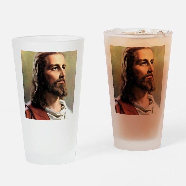 Jesus Drinking Glass
