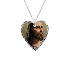 Jesus Necklace Heart Charm