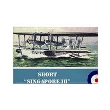 Short Singapore III Rectangle Magnet