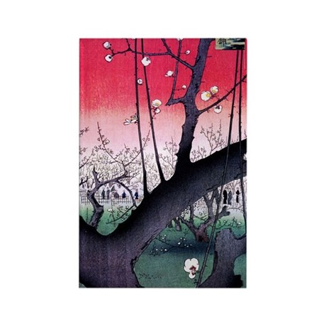 Hiroshige Kameido Rectangle Magnet