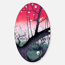 Hiroshige Kameido Sticker (Oval)