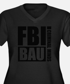 CMBAUFBI1A Women's Plus Size Dark V-Neck T-Shirt