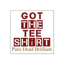 """Got the red tartan dead bri Square Sticker 3"""" x 3"""""""