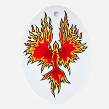 Phoenix Oval Ornament
