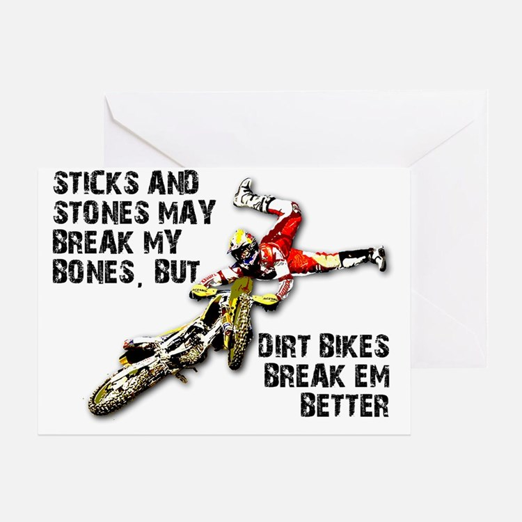 Dirt Bike Greeting Cards – Motocross Birthday Cards