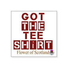 "Got the red tartan flower o Square Sticker 3"" x 3"""