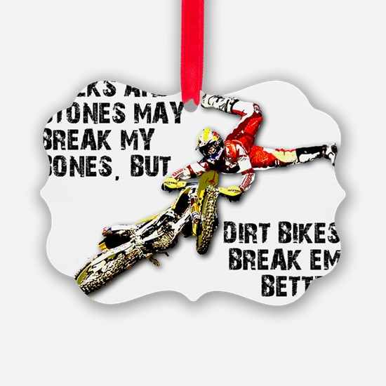 Sticks And Stones Dirt Bike Motoc Ornament