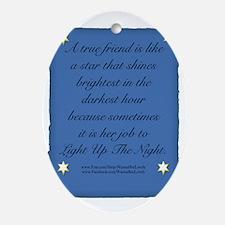 A True Friend Oval Ornament