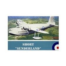 Short Sunderland Rectangle Magnet