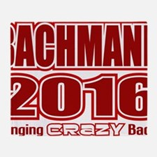 Bachmann President 2016 Crazy Back Throw Blanket