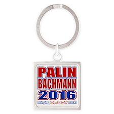 Bachmann Palin President 2016 Craz Square Keychain