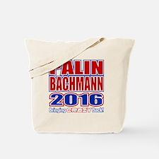 Bachmann Palin President 2016 Crazy Back Tote Bag