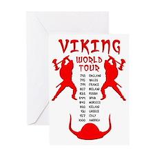 Viking World Tour Funny Norse T-Shir Greeting Card