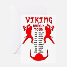 Viking World Tour Funny Norse T-Shir Greeting Card