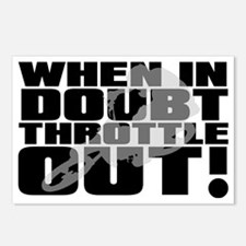 When In Doubt Throttle Ou Postcards (Package of 8)