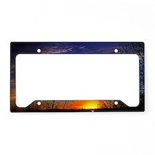 sunrise clouds License Plate Holder