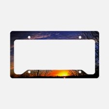 sunrise clouds License Plate Holder