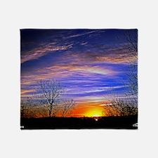 sunrise clouds Throw Blanket