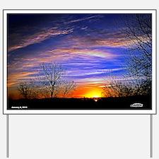 sunrise clouds Yard Sign