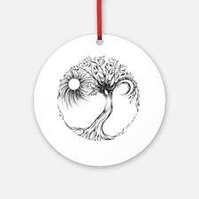 Tree of Life Design Round Ornament