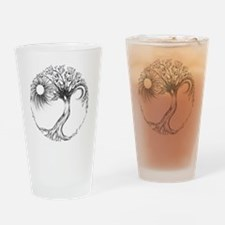 Tree of Life Design Drinking Glass