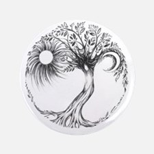 "Tree of Life Design 3.5"" Button"