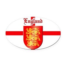 England - Coat of Arms Oval Car Magnet