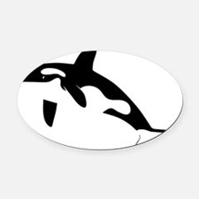 orca killer whale schwertwal wal s Oval Car Magnet