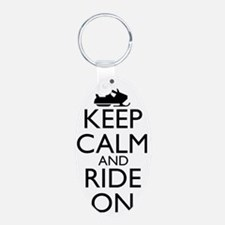 keep calm and ride on... sn Keychains