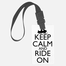 keep calm and ride on... snowmob Luggage Tag