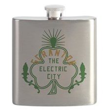 Scranton Electric City Shamrock Flask