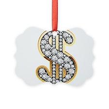 Gold Dollar Rich Ornament