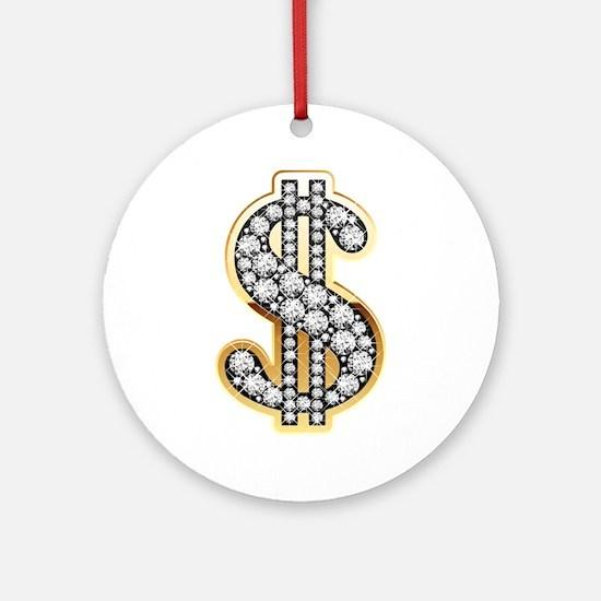 Gold Dollar Rich Ornament (Round)