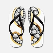 Gold Dollar Rich Flip Flops