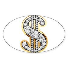Gold Dollar Rich Decal