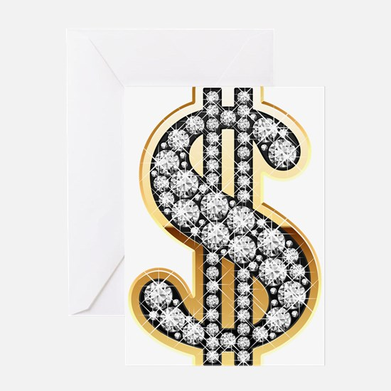 Gold Dollar Rich Greeting Cards