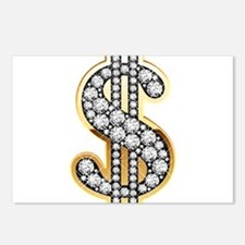 Gold Dollar Rich Postcards (Package of 8)