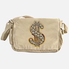 Gold Dollar Rich Messenger Bag